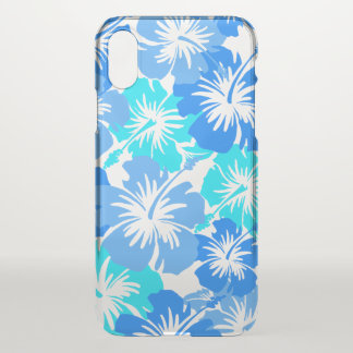 Epic Hibiscus Hawaiian Floral Aloha - Blue iPhone X Case