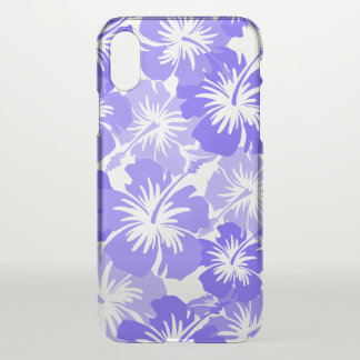 Epic Hibiscus Hawaiian Floral Aloha - Lavender iPhone X Case