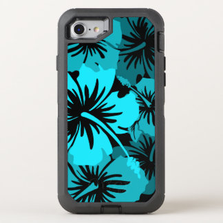 Epic Hibiscus Hawaiian Floral Aloha Teal OtterBox Defender iPhone 8/7 Case