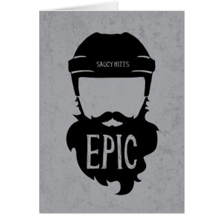 Epic Hockey Playoff Beard Card
