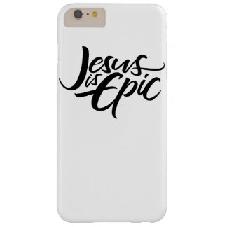 Epic Jesus Black Lettering Religious Calligraphy Barely There iPhone 6 Plus Case
