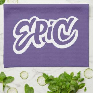 EPIC Lettering Ultra Violet Purple Color of Year Kitchen Towel