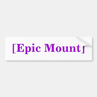 [Epic Mount] Bumper Sticker