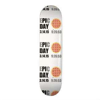 "Epic Pi Day - E""PI""C Day Raspberry Lattice Pie Skate Board Decks"