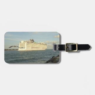 Epic Pursuit - Bird and Cruise Ship Personalized Luggage Tag