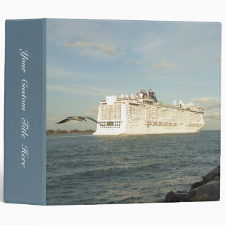 Epic Pursuit - Bird Following Cruise Ship Custom 3 Ring Binder