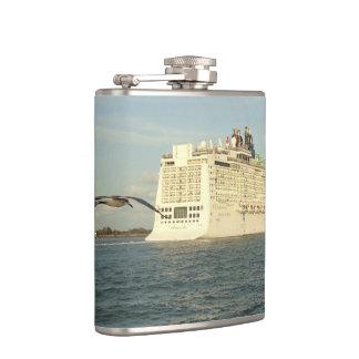 Epic Pursuit - Bird Following Cruise Ship Flasks