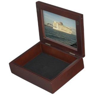 Epic Pursuit - Bird Following Cruise Ship Keepsake Box