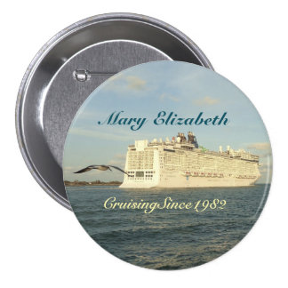 Epic Pursuit Cruise Name Badge 3 Inch Round Button