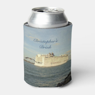 Epic Pursuit - Cruise Ship and Gull Personalized Can Cooler