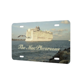 Epic Pursuit - Gull and Cruise Ship Personalized License Plate
