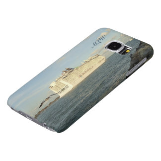 Epic Pursuit - Gull Behind Cruise Ship Monogrammed Samsung Galaxy S6 Cases