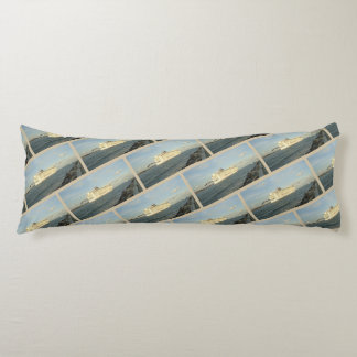 Epic Pursuit Gull Following Cruise Ship Patterned Body Pillow