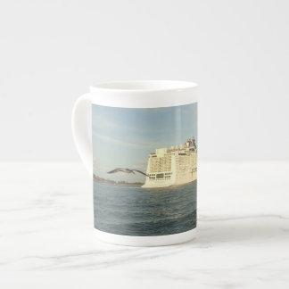 Epic Pursuit - Gull Following Cruise Ship Tea Cup