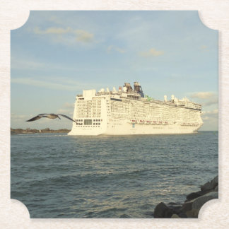 Epic Pursuit - Gull Follows Cruise Ship Paper Coaster