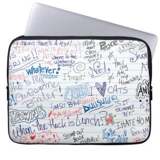 Epic School Doodles Laptop Sleeve
