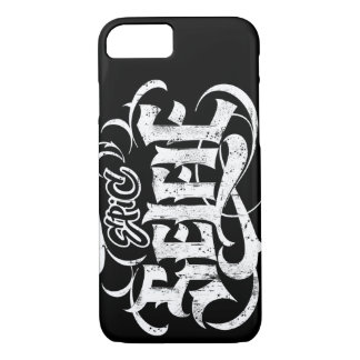 'Epic Selfie' Lettering Tattoo Black Calligraphy iPhone 7 Case