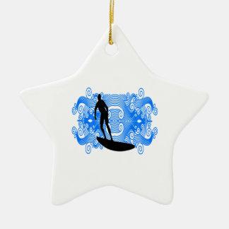Epic Surf Ceramic Ornament
