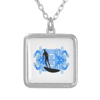 Epic Surf Silver Plated Necklace