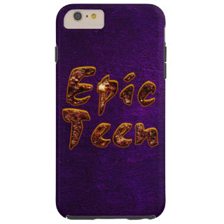 Epic Teen with Purple Background Tough iPhone 6 Plus Case