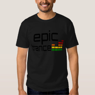 Epic Trance Music with Stereo Equalizer Tshirts