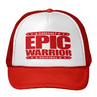 EPIC WARRIOR - Warning: Barely Sane Chimp Warrior Trucker Hat