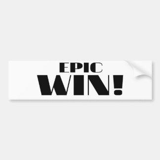 Epic Win Bumper Sticker