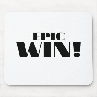 Epic Win Mouse Pads