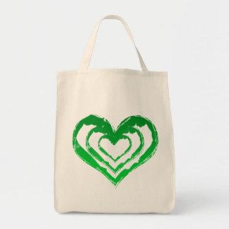 Épicerie verte Fourre-tout de coeur organique Sac En Toile Épicerie