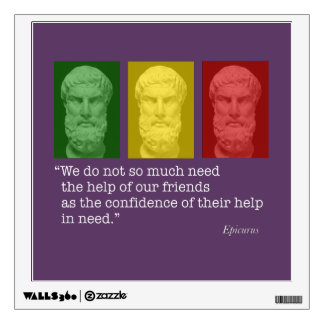 Epicurus and Friendship Wall Decal