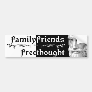 Epicurus: Family Friends Freethought 2 Bumper Sticker