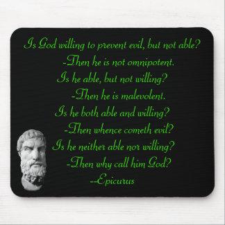 Epicurus Famous Quote Mouse Pad