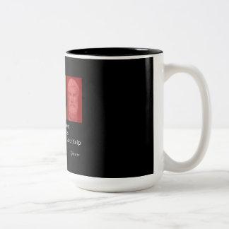 Epicurus & Friendship Two-Tone Coffee Mug