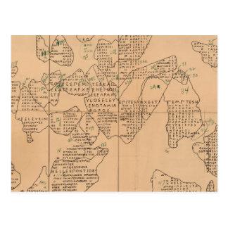 Epigraphic Chart Postcard