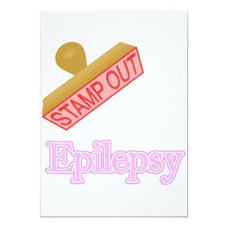 "Epilepsy 5"" X 7"" Invitation Card"
