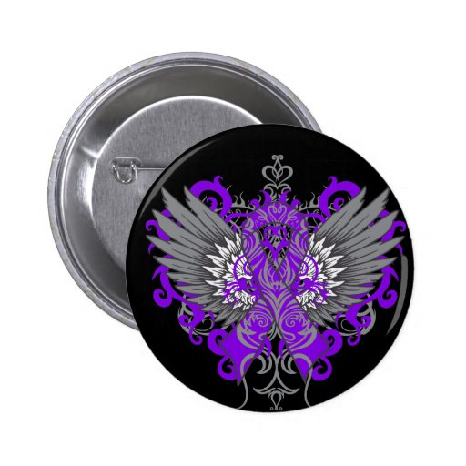 Epilepsy Awareness Cool Wings Buttons