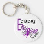 Epilepsy BUTTERFLY 3 Basic Round Button Keychain
