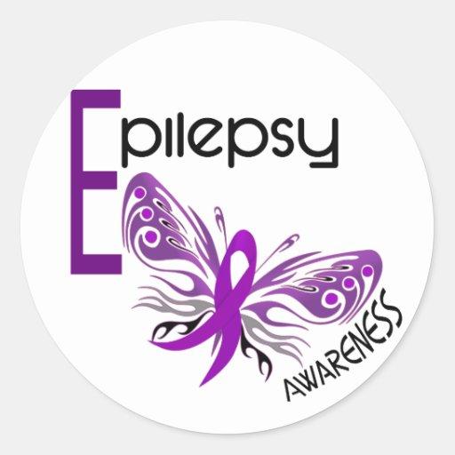 Epilepsy BUTTERFLY 3 Round Sticker