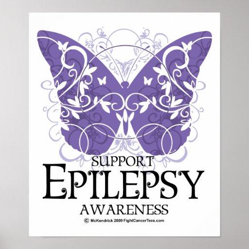 Epilepsy Butterfly Poster