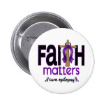 Epilepsy Faith Matters Cross 1 Pinback Button