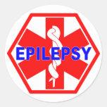 EPILEPSY MEDICAL ID ROUND STICKER