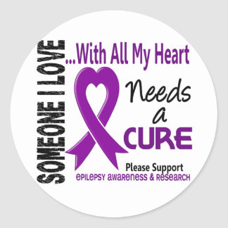 Epilepsy Needs A Cure 3 Classic Round Sticker