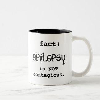epilepsy NOT contagious Two-Tone Coffee Mug