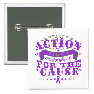 Epilepsy Take Action Fight For The Cause Pinback Buttons