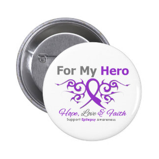 Epilepsy Tribal Ribbon Hero 2 Inch Round Button