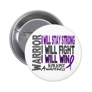 Epilepsy Warrior 2 Inch Round Button