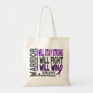 Epilepsy Warrior Budget Tote Bag