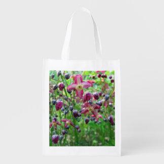 Epimedium Flowers Reusable Grocery Bag