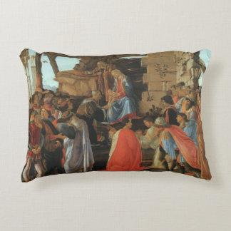 Epiphany Three Kings Virgin Mary Baby Magi Joseph Accent Pillow