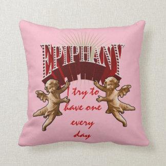 Epiphany - with cherubs throw pillow